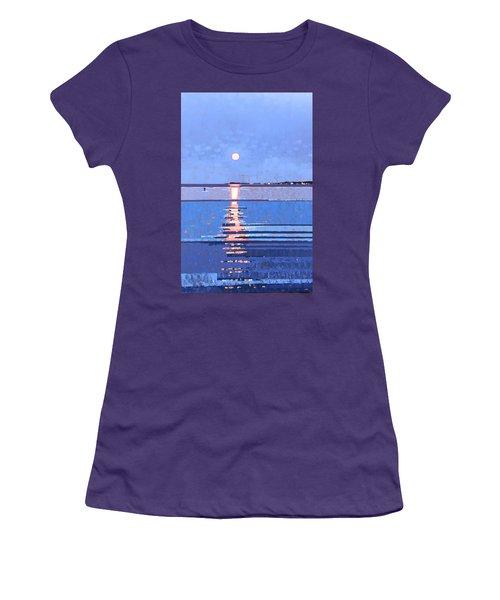 Night Lights Women's T-Shirt (Athletic Fit)