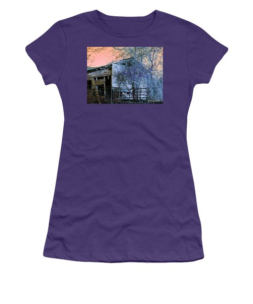 Women's T-Shirt (Junior Cut) featuring the photograph No Ordinary Barn by Betty Northcutt