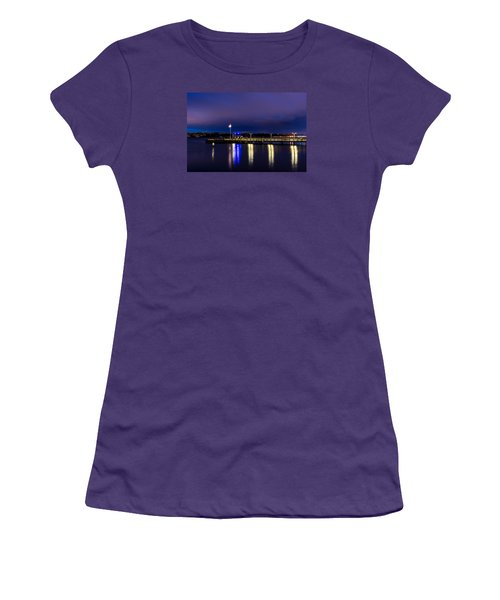 Old Town Pier During The Blue Hour Women's T-Shirt (Junior Cut) by Rob Green