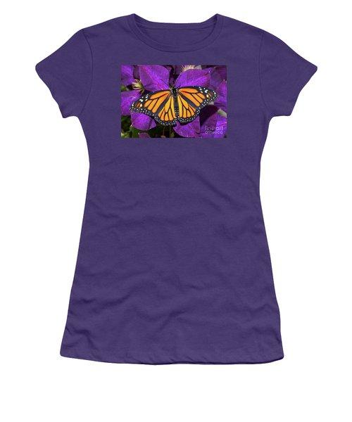 Orange On Purple Women's T-Shirt (Athletic Fit)