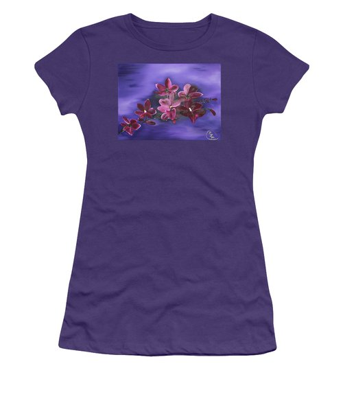 Orchid Blossoms On A Stem Women's T-Shirt (Athletic Fit)