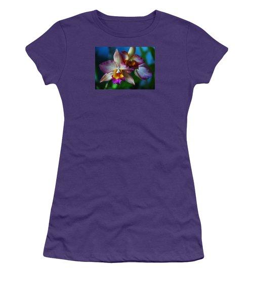 Women's T-Shirt (Junior Cut) featuring the photograph Orchids - Trio by Kerri Ligatich