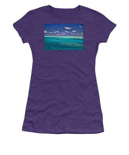 Paddling In Moorea Women's T-Shirt (Athletic Fit)
