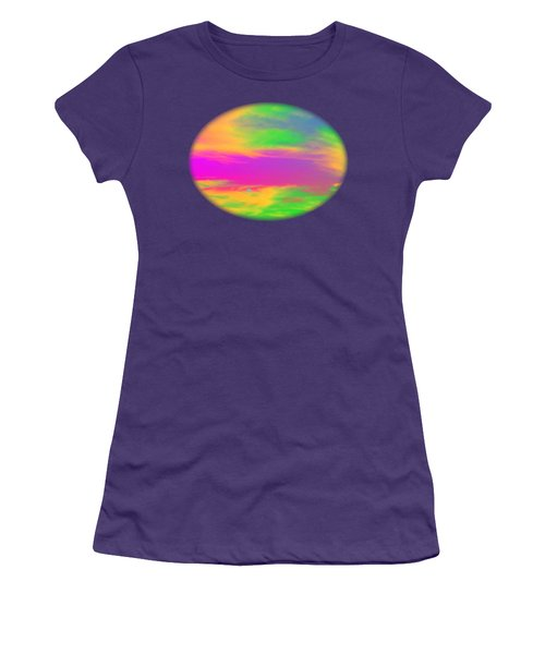 Painted Sky - Abstract Women's T-Shirt (Athletic Fit)