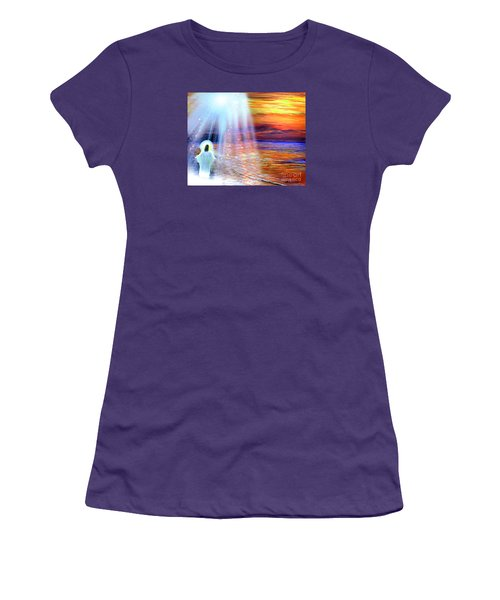 Women's T-Shirt (Junior Cut) featuring the painting Peace Be With You by Patricia L Davidson