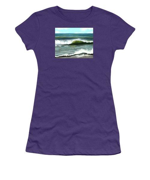 Women's T-Shirt (Junior Cut) featuring the digital art Perfect Day by Dawn Harrell