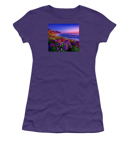 Women's T-Shirt (Junior Cut) featuring the digital art Perfect Sunset by Anthony Fishburne