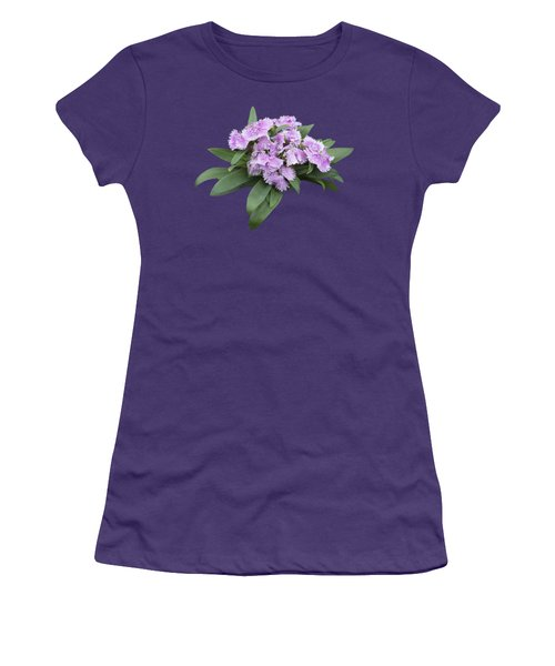 Pink Floral Cutout Women's T-Shirt (Athletic Fit)