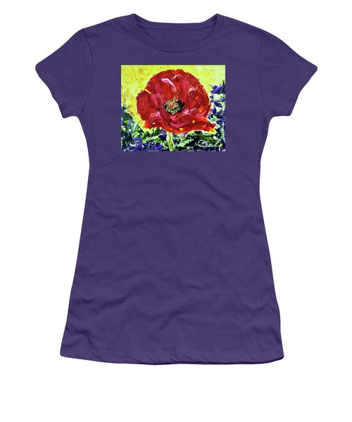 Poppy Amongst Lavender Women's T-Shirt (Athletic Fit)