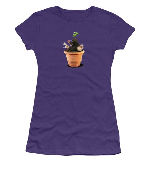 Women's T-Shirt (Junior Cut) featuring the drawing Pot Wordless by Rob Snow