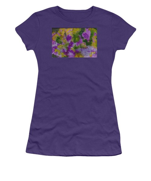 Women's T-Shirt (Junior Cut) featuring the painting Pouring Flowers by Vicki  Housel
