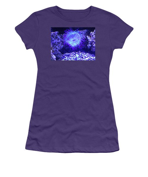 Predatory Terrestrial Sea Anemone Women's T-Shirt (Junior Cut) by Richard W Linford