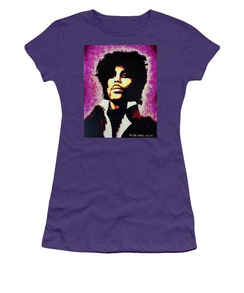 Prince Women's T-Shirt (Junior Cut) by Victor Minca