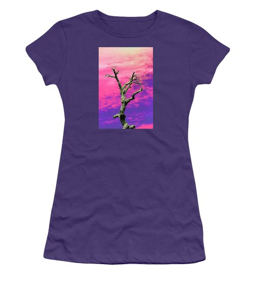 Psychedelic Tree Women's T-Shirt (Junior Cut) by Richard Patmore