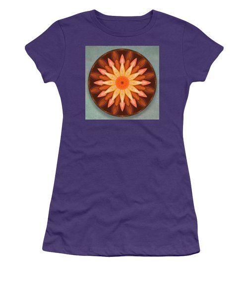 Pumpkin Mandala -  Women's T-Shirt (Athletic Fit)