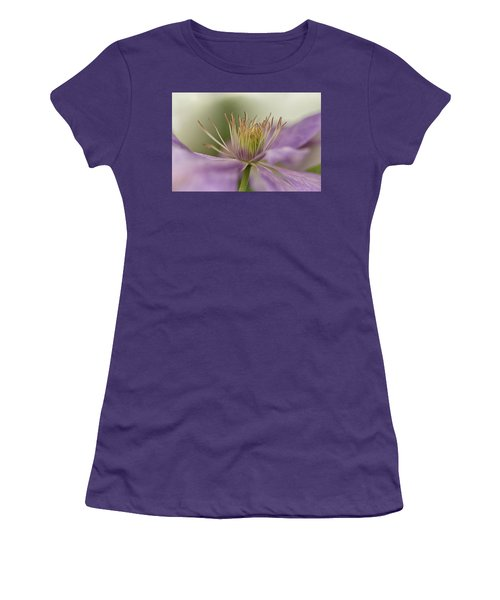 Purple Clematis Macro Women's T-Shirt (Athletic Fit)