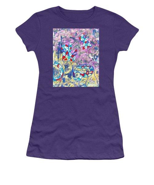 Purple Women's T-Shirt (Athletic Fit)