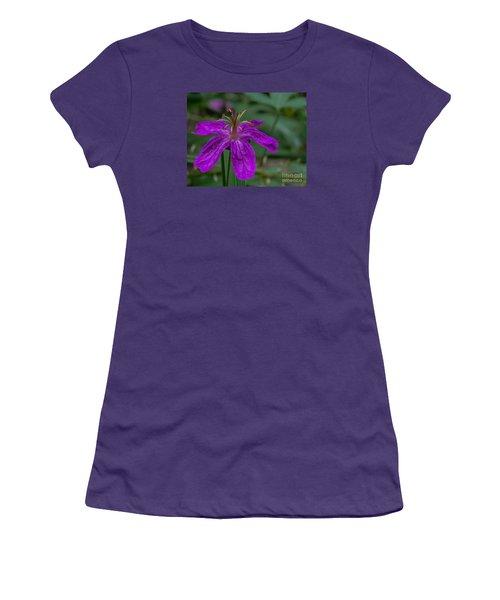 Purple Flower 5 Women's T-Shirt (Athletic Fit)