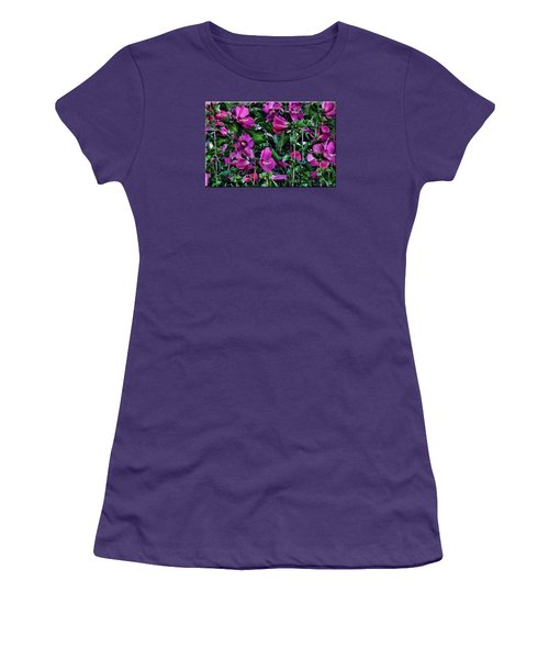 Purple Flowers Women's T-Shirt (Junior Cut)
