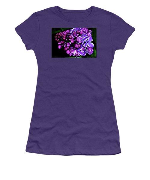 Purple Lilac Women's T-Shirt (Athletic Fit)