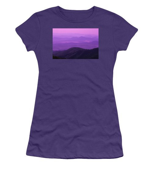 Purple Mountains Women's T-Shirt (Athletic Fit)