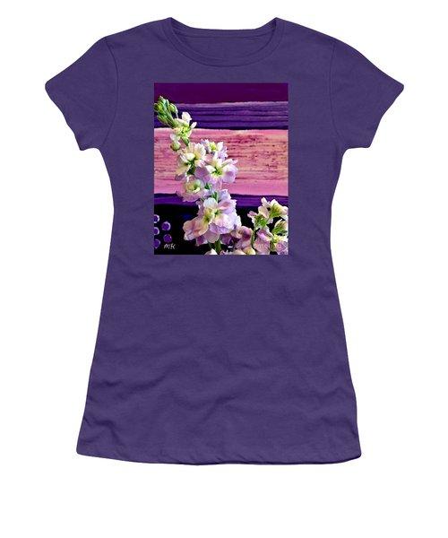 Women's T-Shirt (Junior Cut) featuring the photograph Purple Purple Everywhere by Marsha Heiken