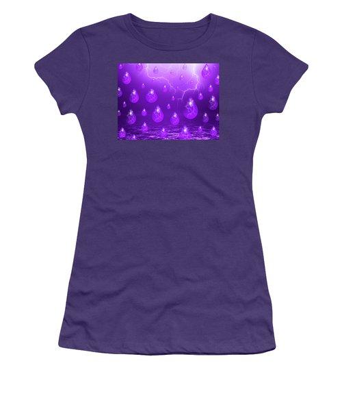 Purple Rain Women's T-Shirt (Athletic Fit)