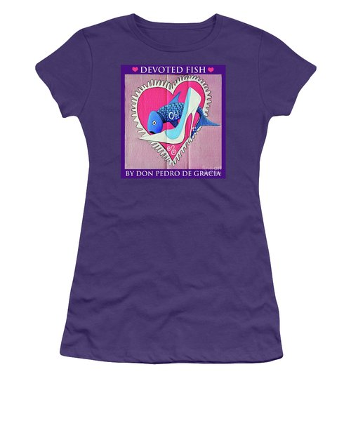 Devoted Fish Women's T-Shirt (Junior Cut) by Don Pedro De Gracia