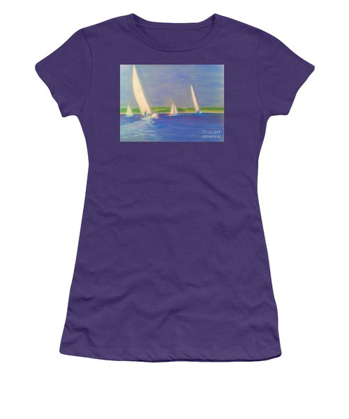Racing Off Chester Women's T-Shirt (Junior Cut) by Rae  Smith