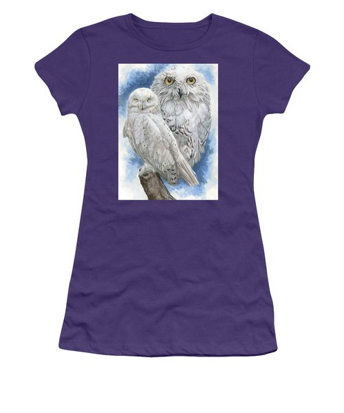 Women's T-Shirt (Junior Cut) featuring the mixed media Radiant by Barbara Keith