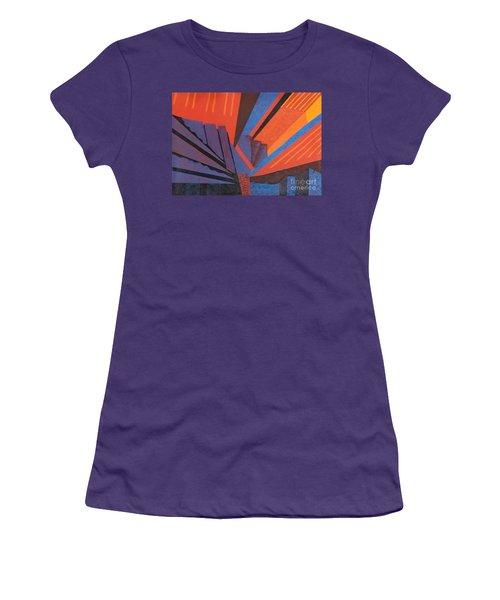 Rays Floor Cloth Women's T-Shirt (Junior Cut) by Judith Espinoza