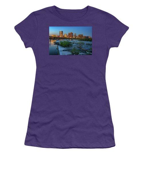 Women's T-Shirt (Junior Cut) featuring the photograph Richmond Twilight by Rick Berk