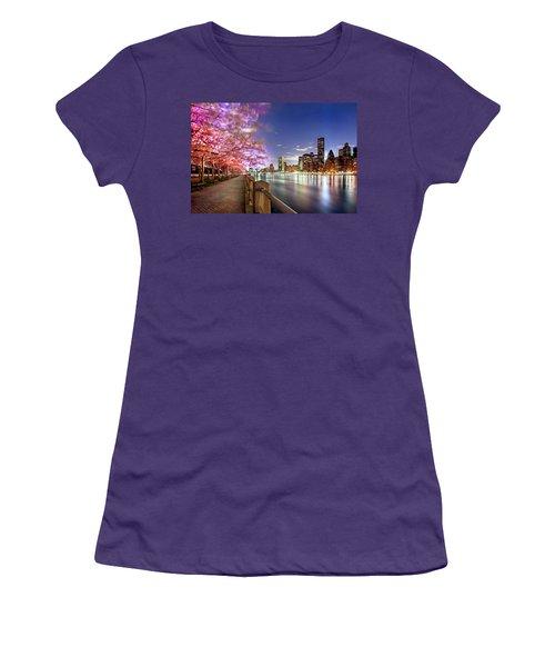 Romantic Blooms Women's T-Shirt (Athletic Fit)