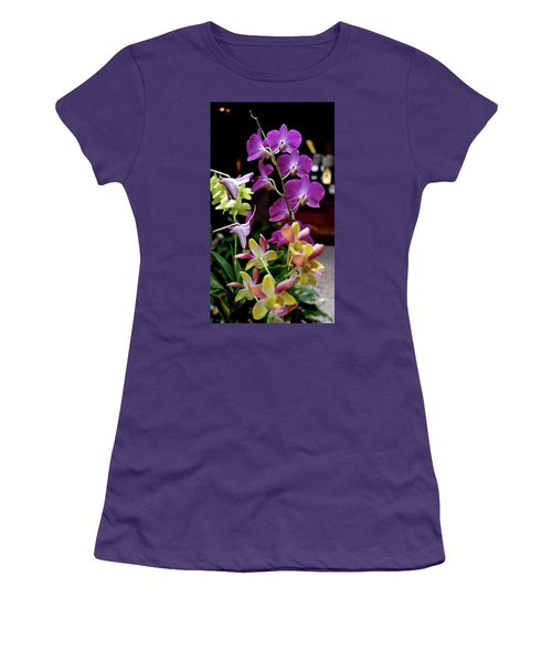 Women's T-Shirt (Athletic Fit) featuring the photograph Royal Hawaiian Orchids by Michele Myers
