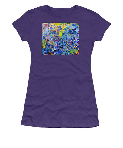 Rube Goldberg Abstract Women's T-Shirt (Athletic Fit)