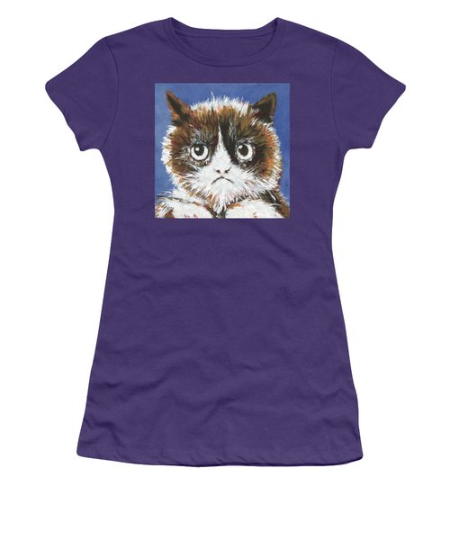 Sad Cat Women's T-Shirt (Athletic Fit)