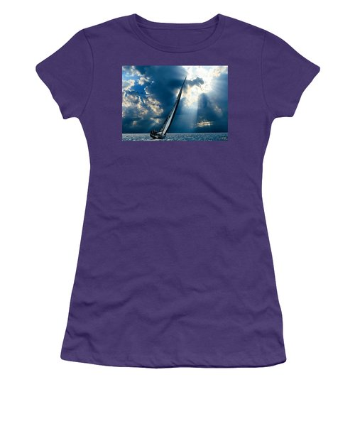 Sailing Boats At Sea , Photography , Women's T-Shirt (Athletic Fit)