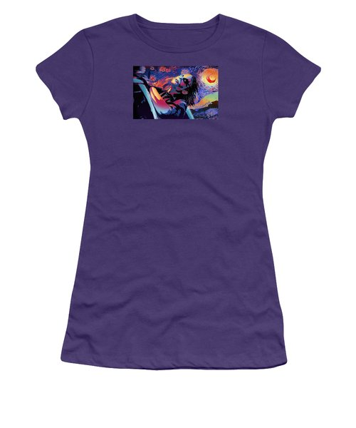 Serene Starry Night Women's T-Shirt (Athletic Fit)