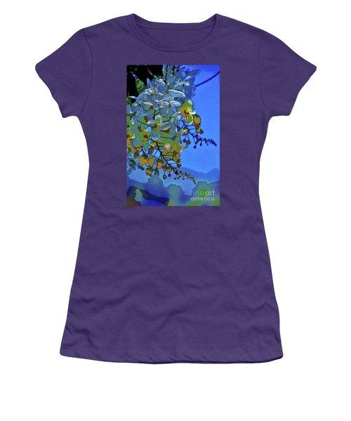 Shower Tree Exposed Women's T-Shirt (Junior Cut) by Craig Wood