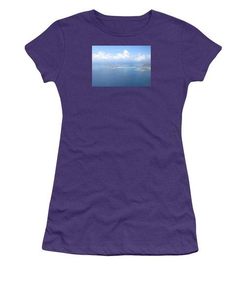 Simpson Bay St. Maarten Women's T-Shirt (Junior Cut) by Christopher Kirby