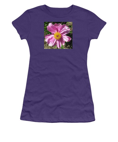 Single Pink Peony Women's T-Shirt (Athletic Fit)