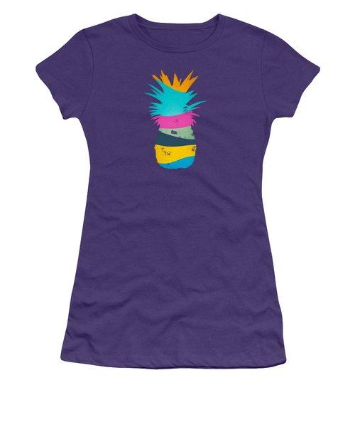Sliced Ananas, Pineapple Women's T-Shirt (Junior Cut) by Jirka Svetlik