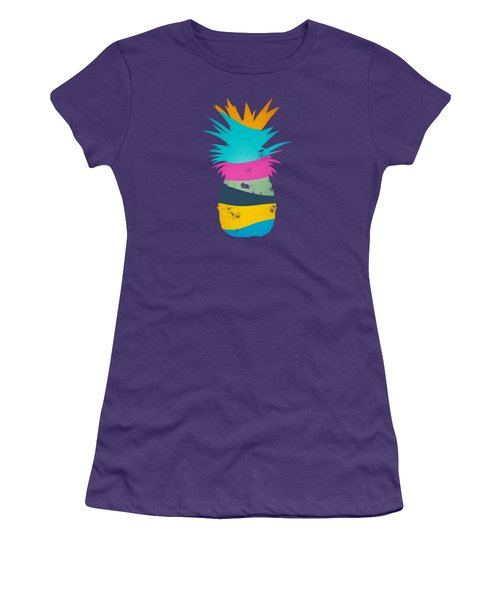 Sliced Ananas, Pineapple Women's T-Shirt (Athletic Fit)