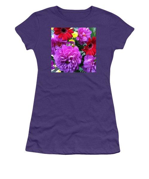 Some Fall Flowers For Inspiration! Women's T-Shirt (Junior Cut) by Jennifer Beaudet