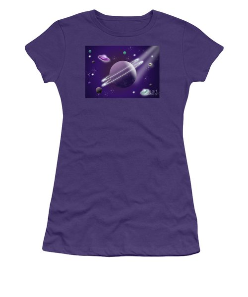 Space Travel Women's T-Shirt (Athletic Fit)