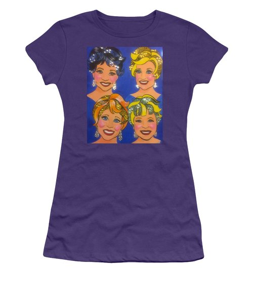 Sparkle Women's T-Shirt (Junior Cut) by Marilyn Jacobson
