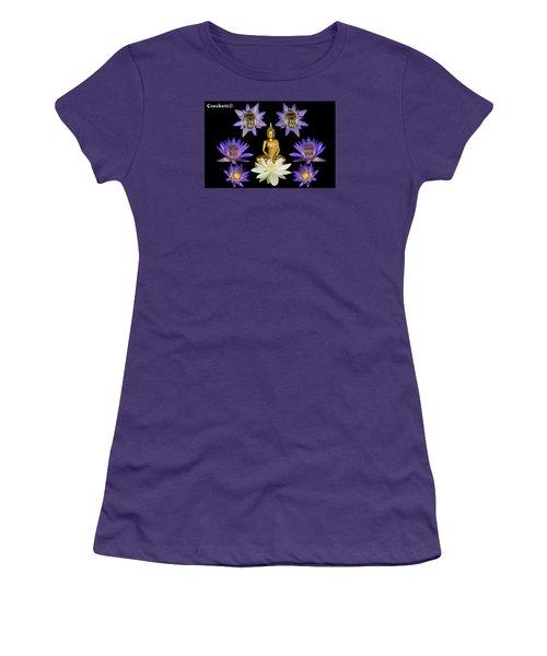 Women's T-Shirt (Junior Cut) featuring the digital art Spiritual Water Lilly by Gary Crockett