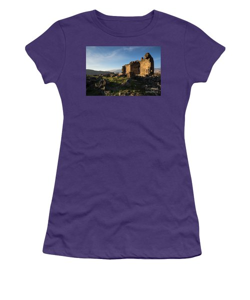 Splendid Ruins Of St. Grigor Church In Karashamb, Armenia Women's T-Shirt (Athletic Fit)