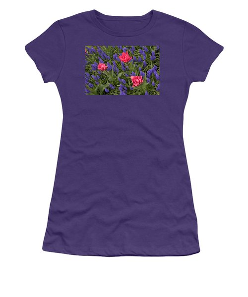 Women's T-Shirt (Junior Cut) featuring the photograph Spring Blooms by Phyllis Peterson