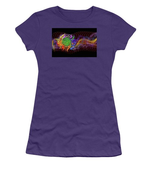 Spring Explodes Nighttime Women's T-Shirt (Athletic Fit)